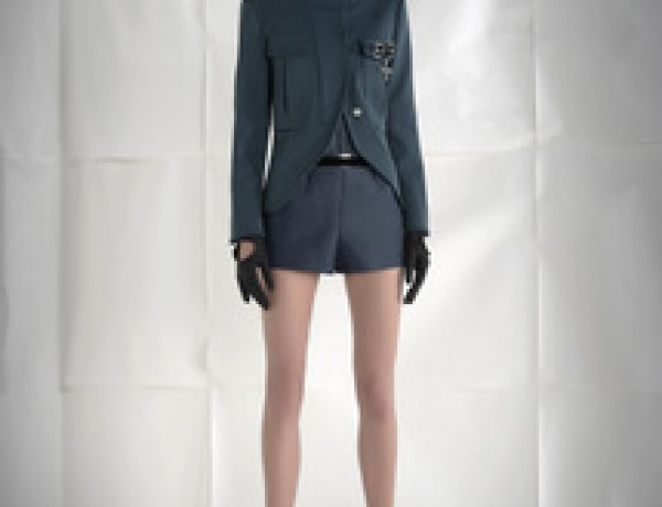 Pinko shorts and jacket Alessandra Fachinetti 2012