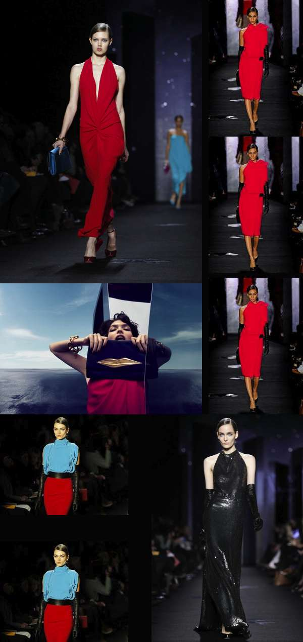 DVF fall winter 2012 red and black