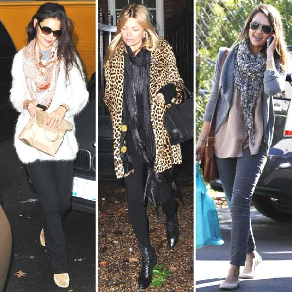 Kate Moss, Katie Holmes, and Jessica Alba Scarves-2012
