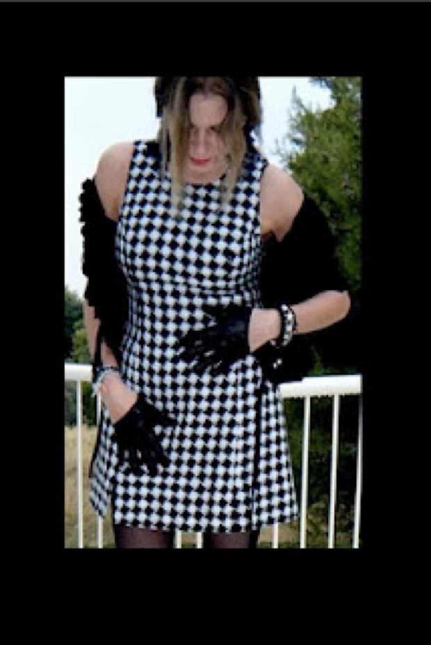 Vintage Versace Dress and New Alexander McQueen Gloves