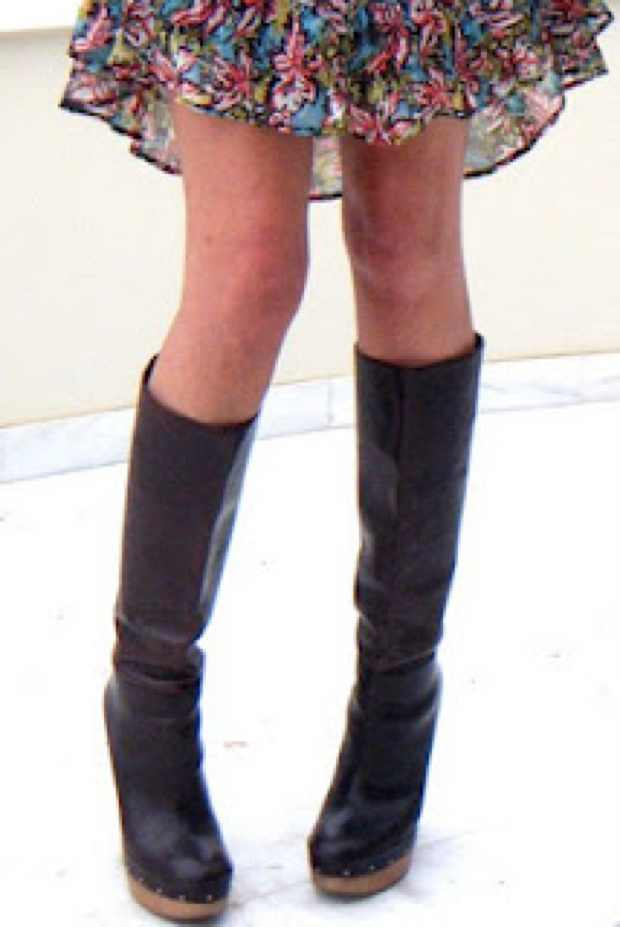 Marni Boots with Wooden high heels