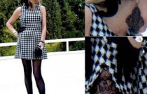 Booties Updated my vintage black and white dress