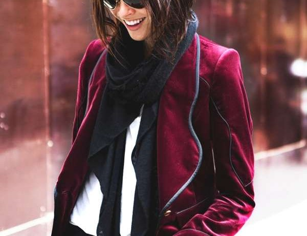 Emily Wiess wearing scarf