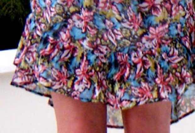 Joie floral silk dress design detail