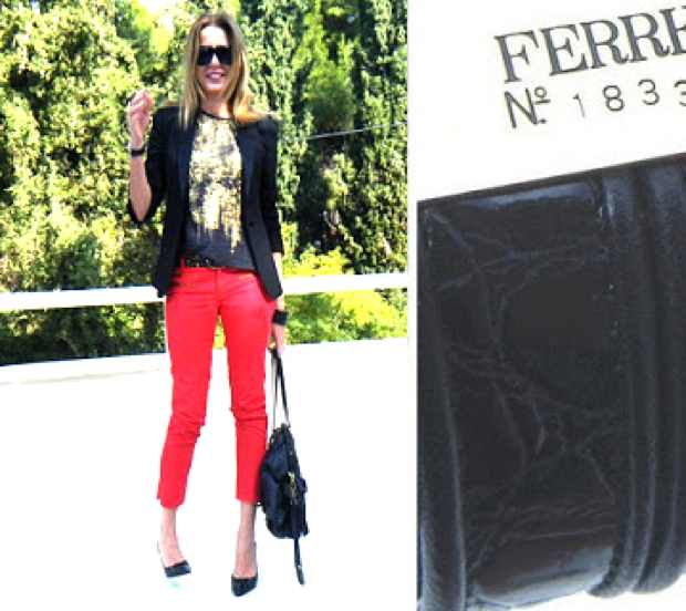 Red Pants Ferre bracelet