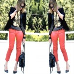 Trendsurvivor red pants, tuxedo jacket