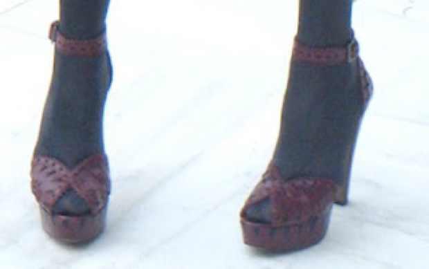 Alaia Red Leiser Cut sandals