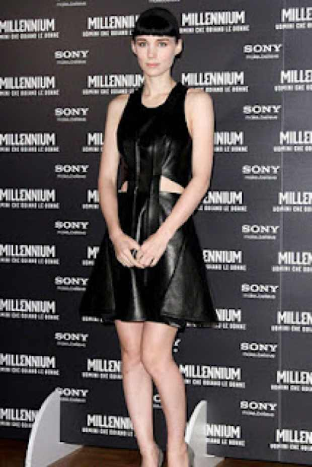Black leather Rooney Mara The Little Black Dress