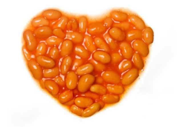 baked beans heart