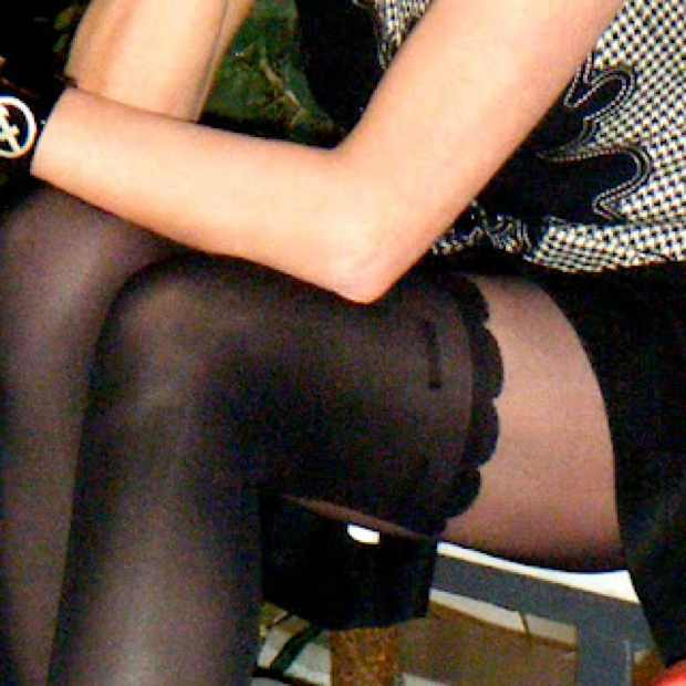 Vintage Vest and Edgy tights