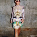 Beyonce in Mary Katrantzou Ivory shirt dress