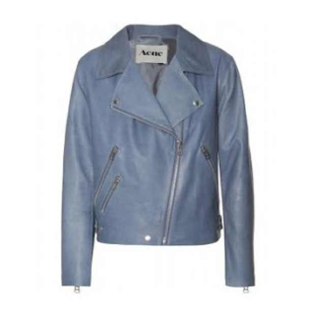 Acne Blue leather jacket