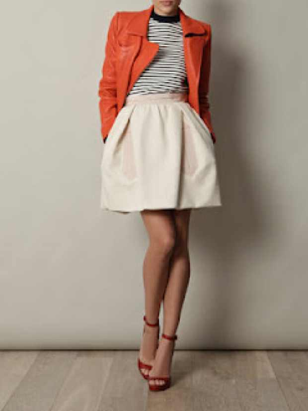 Carven Orange leather jacket
