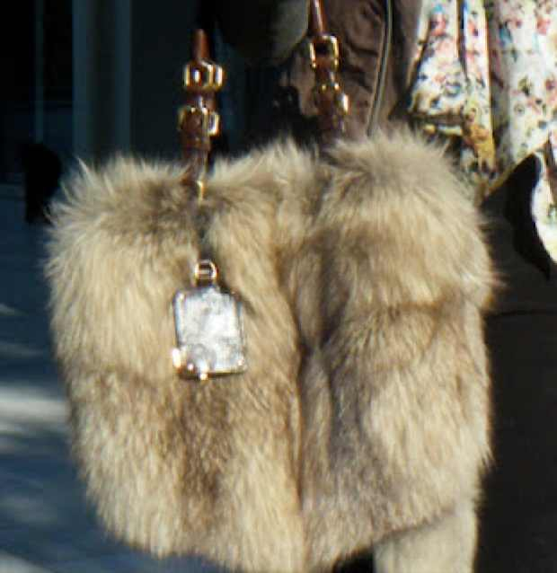 Real fur Prada bag