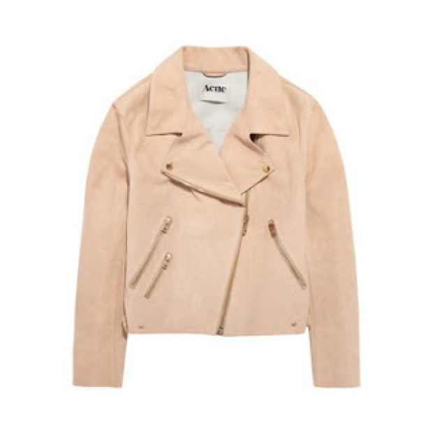 acne beige leather jacket