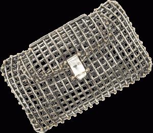 Anndra Neen's metal handbag