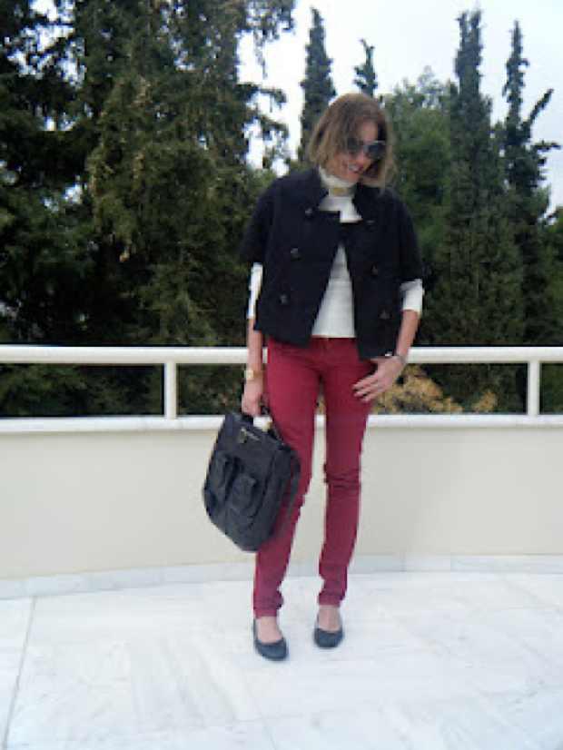 Bordeaux Jeans Outfit