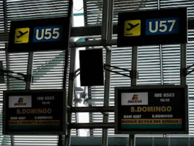 Airport Madrid to santo Domingo