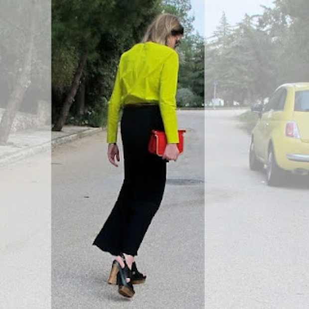 Marni Wooden heel Shoes Outfit red and lime