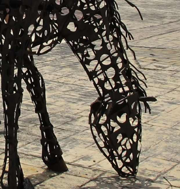 Metal horse, Old Town