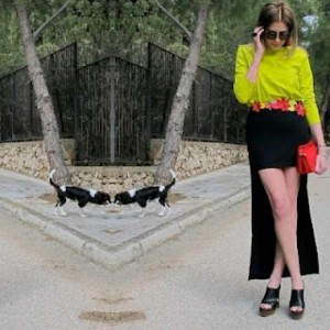 Marni shoes Outfit, High low skirt