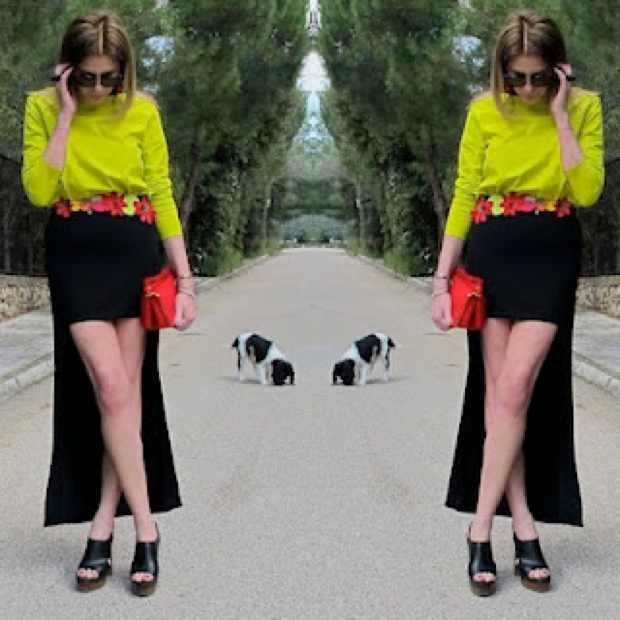 High and low Skirt Outfit