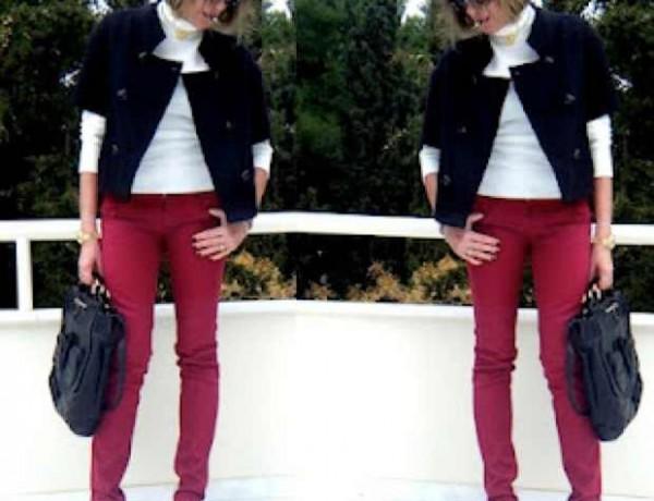 Bordeaux  Jeans outfits