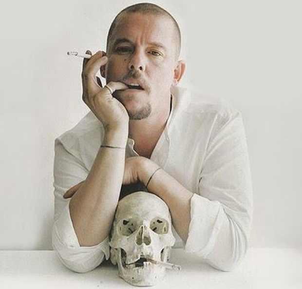 Alexander McQueen portrait photo skull