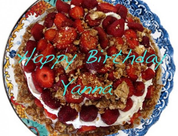 Birthday cake Yanna, strawberry cake