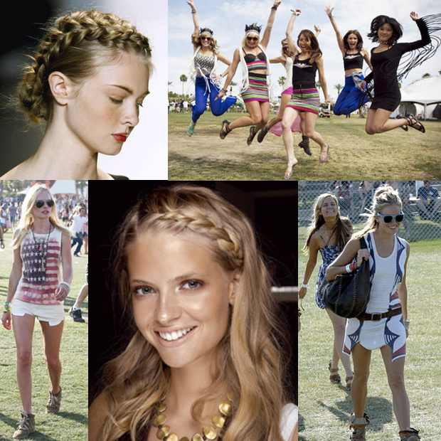 Headband braid Celebrity Hairstyle Boho chic Braids Collage
