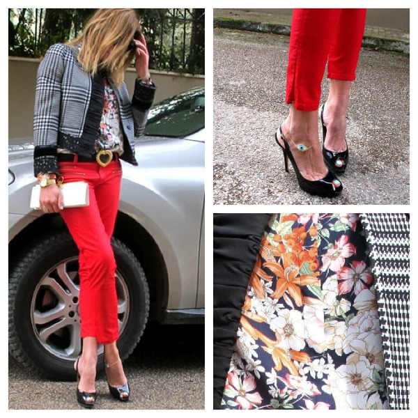 Mixing prints collage