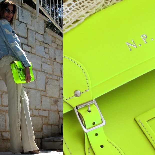 The Cambridge satchel company yellow outfit
