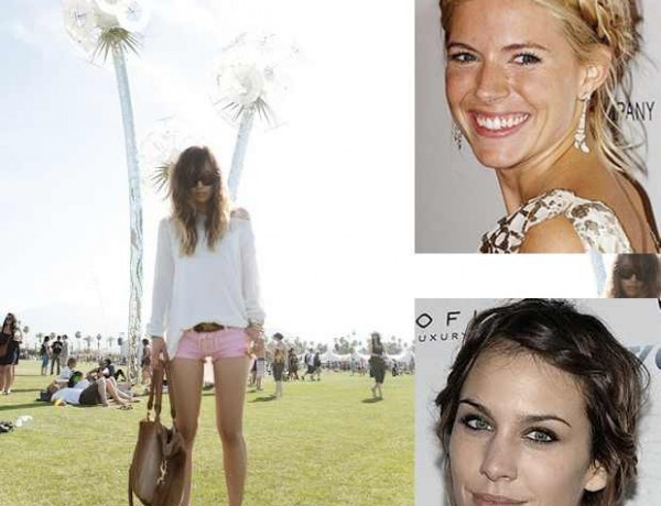 Celebrity Hairstyle Boho chic Braids Collage Alexa Chung