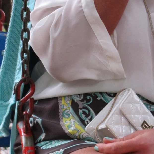 chanel mini white handbag