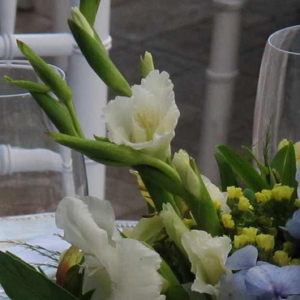 white flower decor detail