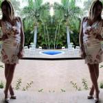 Alexander McQueen floral dress