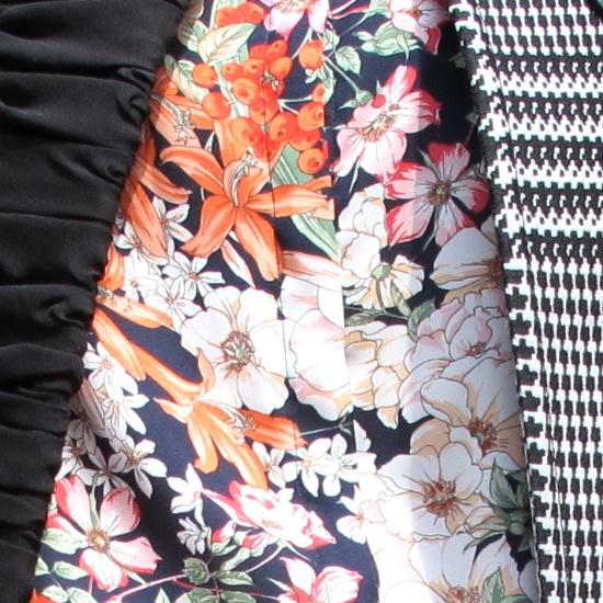 mixing prints close up