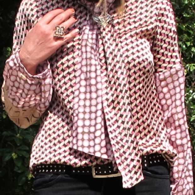 Marni style silk shirt