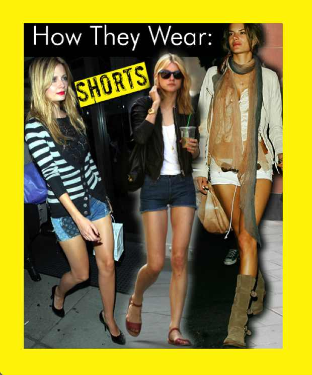 Celebrities Wearing Shorts
