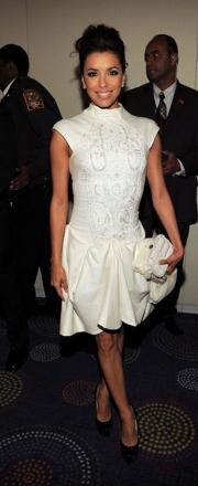 Eve Longoria White Dress