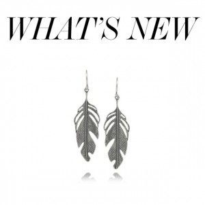 Chan Luu Silver Feather Earrings