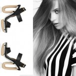 Cool Black leather Wooden Heeled sandals