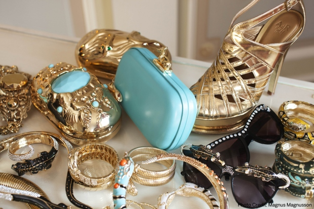 Anna Dello Russo is an accessories collector