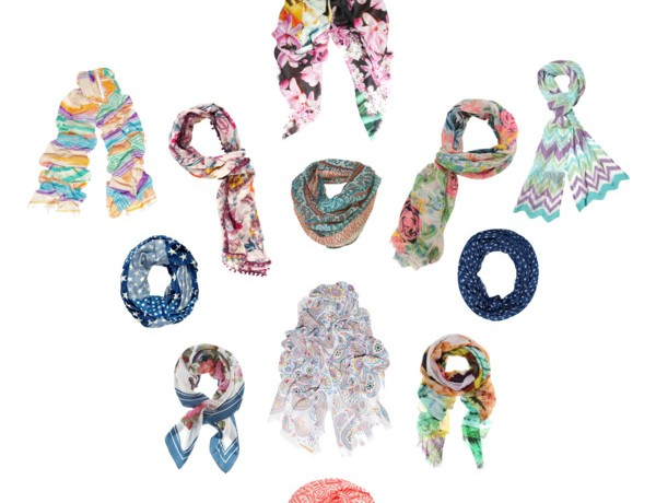 Collage Foulards, scarves 2012