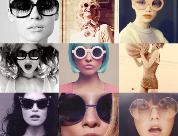 round sunglasses collage