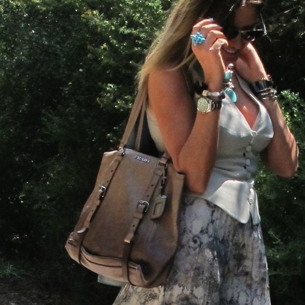 Prada Handbag and my DIY ring