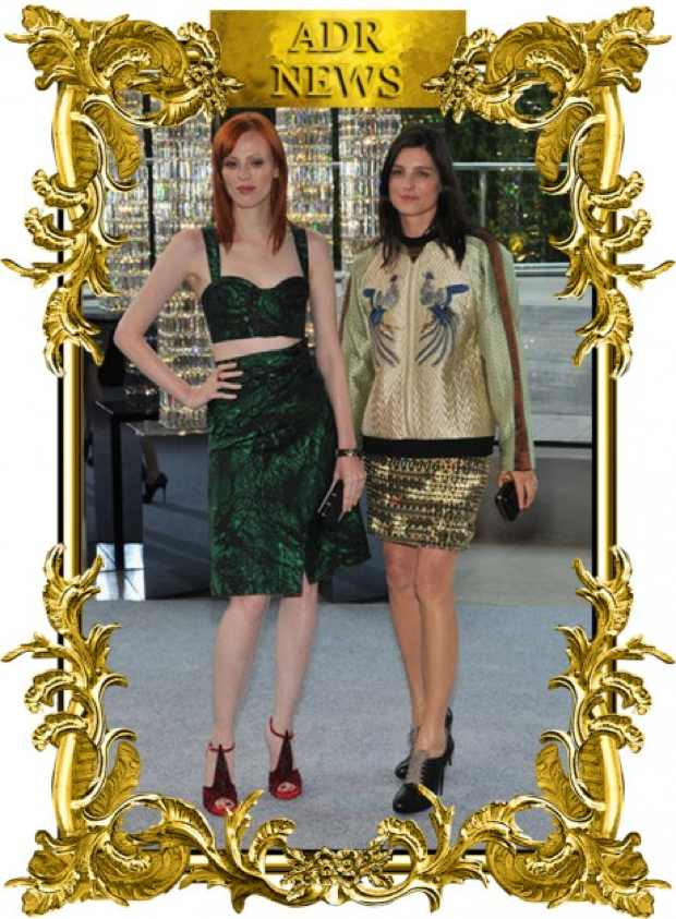 Tabitha SIMMONS with Karen Elson Swarovski Award Accessory Design