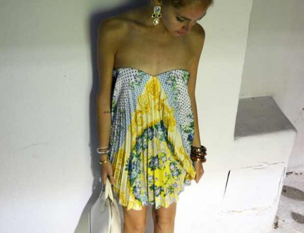 Chiara Ferragni Dress and earrings MSGM
