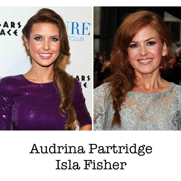 Audrina Partridge Isla Fisher Collage hairstyle