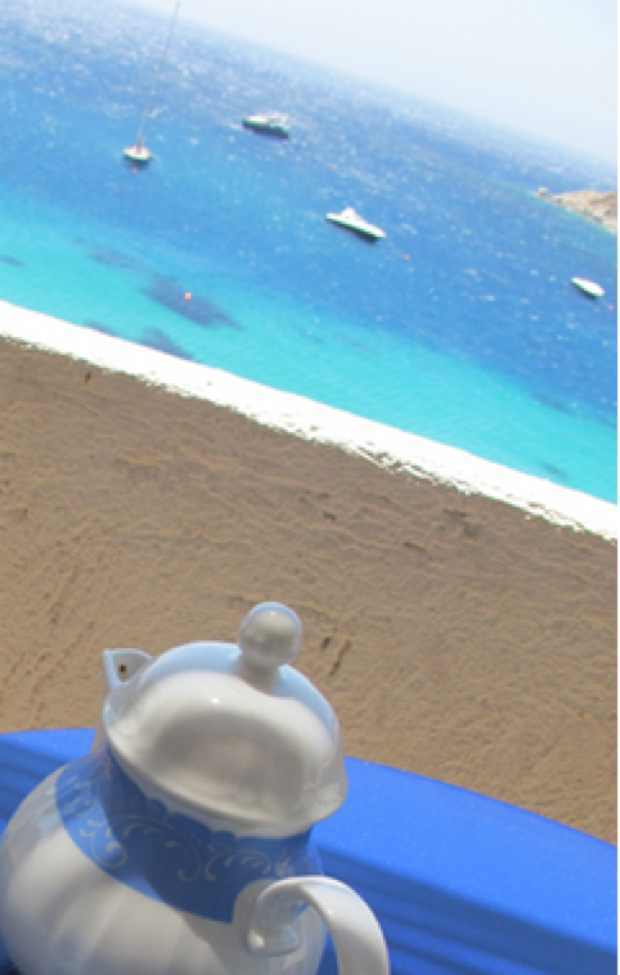 Blue Sea coffee pot